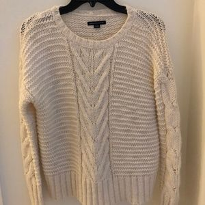 cream american eagle sweater